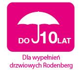 gwarancja do 10 lat dla wypełnień drzwiowych Rodenberg