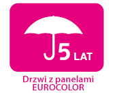 Gwarancja 5 lat drzwi z panelami Eurocolor